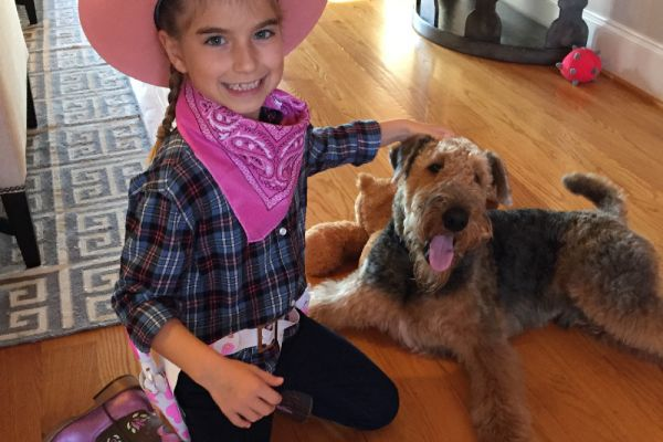 kids and airedales